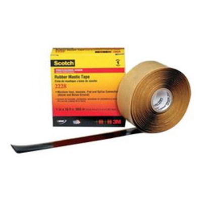 3M 2228-1X10FT 3M 2228-1X10FT Scotch® Premium Grade Sealing and Insulating Tape; 10 ft x 1 Inch x 65 mil, Ethylene Propylene Rubber Backing, Mastic Adhesive, Black