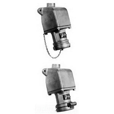 Appleton ADRE6044-150 Appleton ADRE6044-150 4-Pole Pin & Sleeve Receptacle with AEE Mounting Box, 600 VAC, 250 VDC, 60 A, 4-Wire