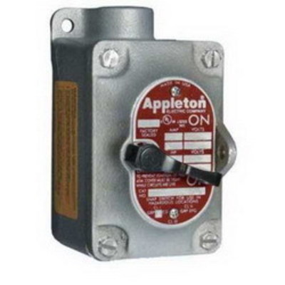 Appleton EDS150-F3W Appleton EDS150-F3W EDS Series 1-Gang 3-Way Factory Sealed Tumbler Switch; 20 Amp, 120/277 Volt AC