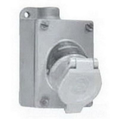 Appleton ENR21201 Appleton ENR21201 U-Line® Contender® 1-Gang Receptacle with Mounting Box; 20 Amp, 125 Volt AC, 3-Pole, 2-Wire, 3/4 Inch Dead-End Hub