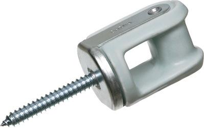 Arlington Fittings 616 Arlington Industries 616 2-1/4 Lag Screw Porcelain Wire Holder, Porcelain/Metallic