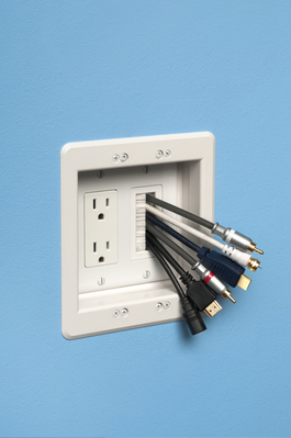 Arlington Fittings CED135 Arlington CED135 Scoop™ Cable Entry Device with Slotted Cover; White