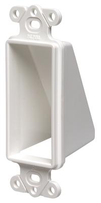 Arlington Fittings CED1 Arlington CED1 1-Gang Cable Access Hood; Box Mount, Paintable Plastic, Black/White