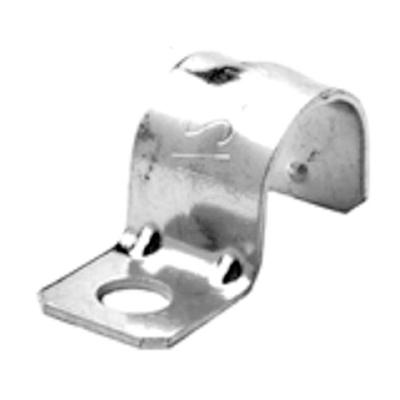 Bridgeport 920-S Bridgeport 920-S Pipe Strap for EMT Conduit; 1/2 Inch, Steel, 1 Hole