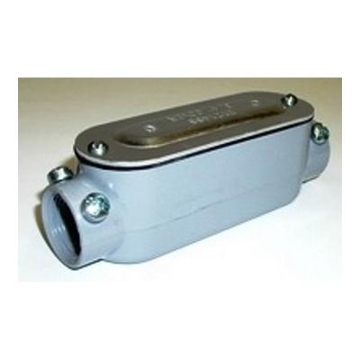 Bridgeport C-44CGC Bridgeport C-44CGC Type C Combination Conduit Body Assembly With Cover and Gasket; 1-1/4 Inch, Threaded x Set-Screw, Aluminum