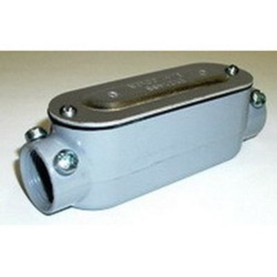 Bridgeport C-45CGC Bridgeport C-45CGC Type C Combination Conduit Body Assembly With Cover and Gasket; 1-1/2 Inch, Threaded x Set-Screw, Aluminum