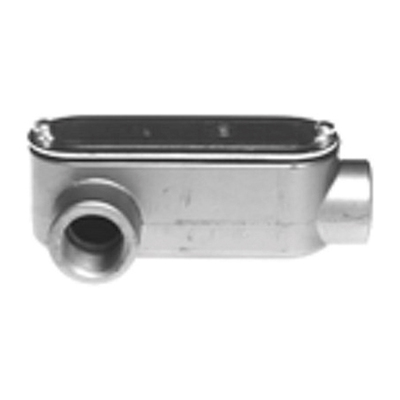 Bridgeport LR-49CG Bridgeport LR-49CG Type LR Conduit Body with Cover & Gasket, 3-1/2 inch, Aluminum, Enamel Paint