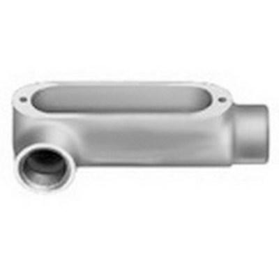 Bridgeport LR-67 Bridgeport LR-67 Type LR Rigid Conduit Body, 2-1/2 inch, Malleable Iron, Zinc Electroplated
