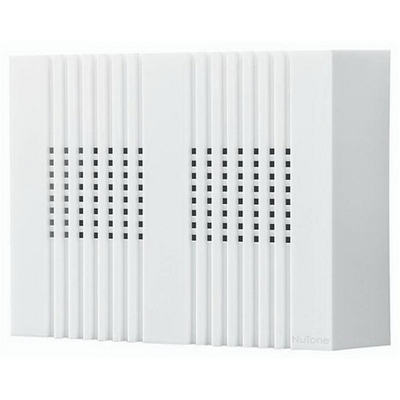 Broan Nu-Tone LA126WH LA126WH NUTONE WIRED CHIMES,NUTONE,TWO-NOTE,COMPACT,CLAS S16 V,PLASTIC HSG,FINISH: WHT
