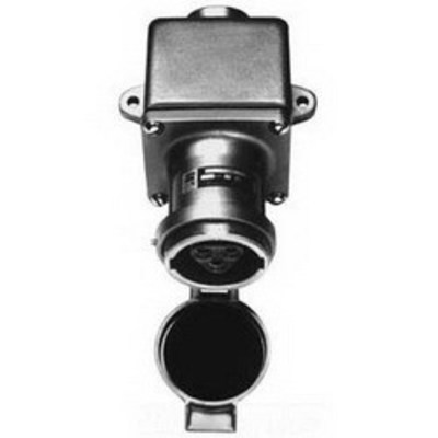 Cooper Crouse-Hinds ARE3523 Cooper Crouse-Hinds ARE3523 Arktite® Style 2 Receptacle Assembly with ARE Back Box; 30 Amp, 600/250 Volt AC/DC, 5-Pole, 4-Wire