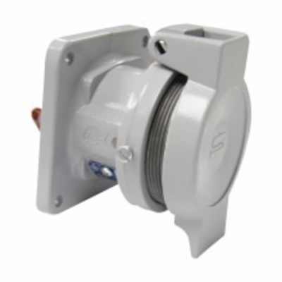 Cooper Crouse-Hinds CDR1044 Cooper Crouse-Hinds CDR1044 PowerMate™ Style 1 Lockout Pin and Sleeve Receptacle; 100 Amp, 600 Volt AC/250 Volt DC, 4-Pole, 4-Wire