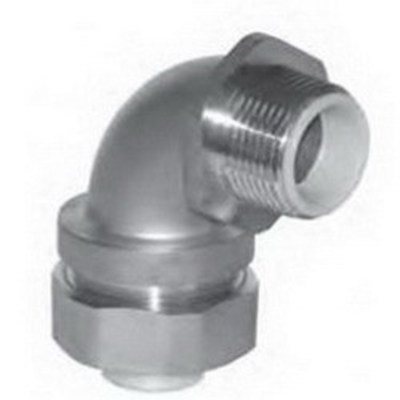 Cooper Crouse-Hinds LTB7590SS Cooper Crouse-Hinds LTB7590SS Insulated 90 Degree Liquidtight Connector; 3/4 Inch, 304 Stainless Steel, MNPT
