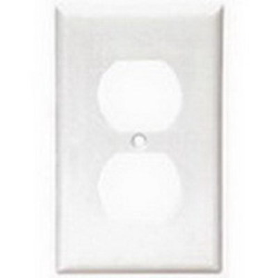 Cooper Wiring Devices 2132W-BOX Cooper Wiring 2132W-BOX Arrow Hart™ Eagle 1-Gang Duplex Receptacle Wallplate; Thermoset Plastic, White, Device/Screw Mount