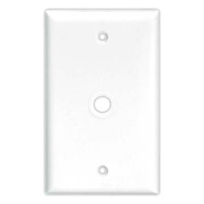 Cooper Wiring Devices 2159W-BOX Cooper Wiring 2159W-BOX 1-Gang Telephone/Coaxial Wallplate; Screw Mount, Thermoset, White