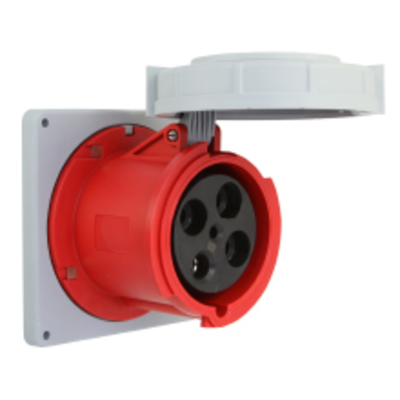 Cooper Wiring Devices AH4100R12W Cooper Wiring AH4100R12W Arrow Hart™ Watertight Pin and Sleeve Receptacle; 100 Amp, 600 Volt, 3-Pole, 4-Wire, Nickel Plated Steel Terminal Screw, Orange