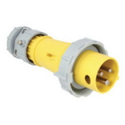 Cooper Wiring Devices AH420P7W Cooper Wiring AH420P7W Arrow Hart™ Watertight Plug; 20 Amp, 480 Volt AC, 3-Pole, 4-Wire, Red
