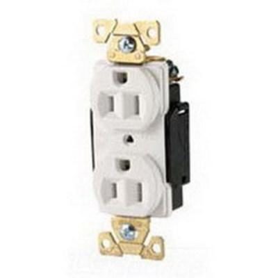 Cooper Wiring Devices AH5362W Cooper Wiring AH5362W ArrowHart™ Straight Blade Duplex Receptacle; 125 Volt, 20 Amp, 2 Pole, 3 Wire, White