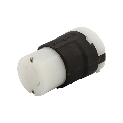 Cooper Wiring Devices AHL1530C Cooper Wiring AHL1530C Hart-Lock® Arrow Hart® Straight Blade Ultra Grip Connector; 30 Amp, 3-Pole, 16-12 AWG, Black/White