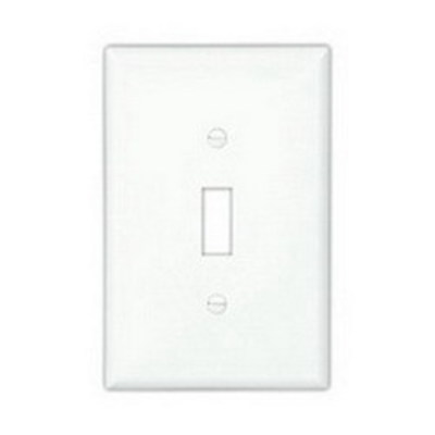 Cooper Wiring Devices PJ5W Cooper Wiring PJ5W 5-Gang Toggle Switch Wallplate; Screw Mount, Polycarbonate, White