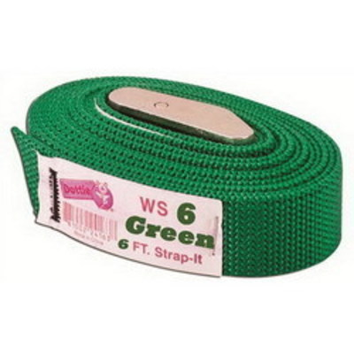 Dottie Co L.h. 2WS06 L.H. Dottie 2WS06 PC 6775 Tie-Down Web Strap With Buckle; Nylon, Green, 6 ft Length x 1 Inch Width