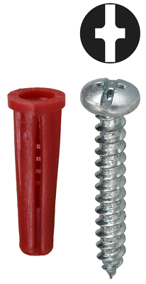 Dottie Co L.h. K6CO Dottie K6CO Anchor and Screw Kit; Phillips/Slotted Drive (Display Pack)