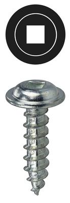 Dottie Co L.h. KWDD101 L.H. Dottie KWDD101 PC 4200 Piercing Square Wafer Head K-Lath Screw; #10, 1 Inch Length, Steel, Zinc-Plated