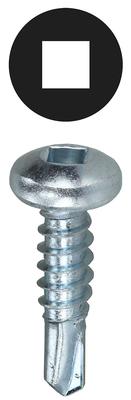 Dottie Co L.h. TEKDD1012 Dottie TEKDD1012 Self-Piercing Self-Drilling Screw, #10, 1/2 inch Length, Square Drive, Zinc Plated Steel, Pan Head