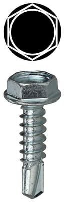 Dottie Co L.h. TEKHT834 L.H. Dottie TEKHT834 PC 4220 Hex Washer Self Drilling Screw; #8, 3/4 Inch Length, Steel, Zinc-Plated