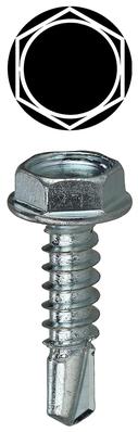 Dottie Co L.h. TEKHW122 Dottie TEKHW122 Self-Piercing Self-Drilling Screw, #12, 2 inch Length, Hex Drive, Zinc Plated Steel, Hex Washer Head