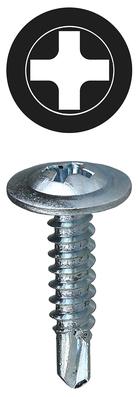 Dottie Co L.h. TEKWT812 Dottie TEKWT812 Self-Piercing Self-Drilling Screw, #8, 1/2 inch Length, Phillips Drive, Zinc Plated Steel, Wafer Head