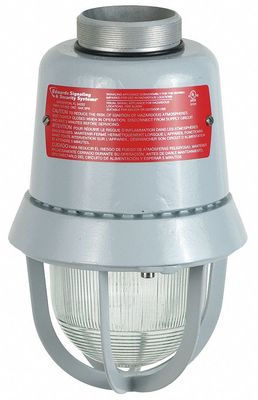 Edwards 116DEGEX-FJ Edwards 116DEGEX-FJ Explosion Proof Fire Alarm Strobe, 16 - 33 VDC, 60 fpm Flash, Clear