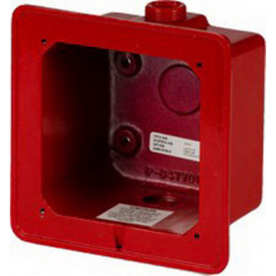 Edwards 2459-WPB-R Edwards 2459-WPB-R Weatherproof Back Box; Red