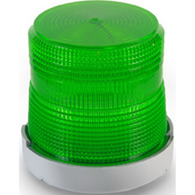 Edwards 48FING-E1 Edwards 48FING-E1 AdaptaBeacon® Flashing Incandescent Beacon; 12 Volt DC, 1.0 Amp, 4-9/32 Inch Width x 4-7/32 Inch Height, Polycarbonate/ABS Blaend Base, Polycarbonate Lens, Gray Base, Green Lens, 65 Flashes per min