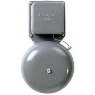 Edwards 55-6G5 Edwards 55-6G5 55 Series General Purpose Vibrating Bell; 6 Inch, 24 Volt AC, 84 DB At 1 m, 74 DB At 10 ft, Gray