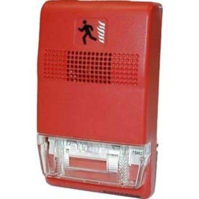 Edwards EG1R-C Edwards EG1R-C Surface Mount Indoor Strobe Light, 24 VAC, 50/60 Hz, 0.115 A, Red Lens, Thermoplastic