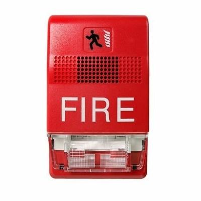 Edwards EG1RF-VM Edwards EG1RF-VM Wall Mount Fire Alarm Horn Strobe, 24 VAC, 0.115 A, Red Lens, Thermoplastic