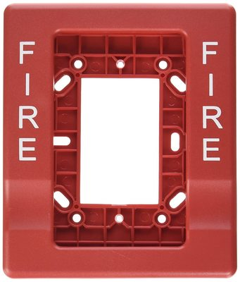 Edwards EG1RT-FIRE Edwards EG1RT-FIRE Wall Mount Fire Alarm Horn Strobe, 24 VAC, 0.115 A, Red Lens, Thermoplastic
