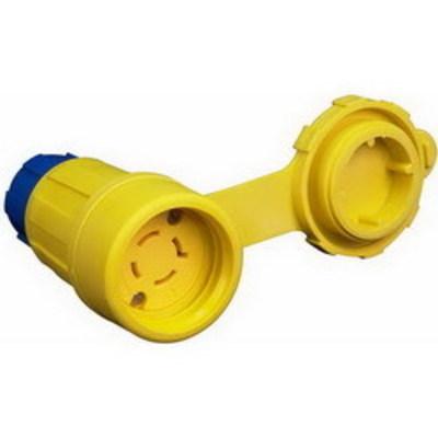 Ericson Power & Lighting Safet 2412-CW6P Ericson 2412-CW6P Perma-Kleen™ Locking Connector; 2-Pole, 3-Wire, 20 Amp, 250 Volt, NEMA L6-20, Yellow/Blue