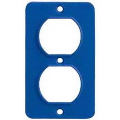 Ericson Power & Lighting Safet 6031 Ericson 6031 GFCI Cover Plate; 1-Duplex Receptacle, High Impact Weather Nylon, Blue