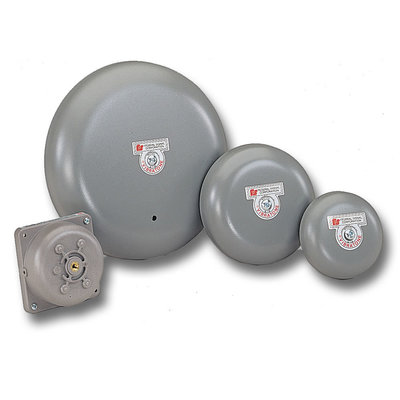 Federal Signal 500-120-1 Federal Signal 500-120-1 Vibratone® Bell; 6 Inch, 120 Volt AC, 98 - 102 DB At 10 ft, Gray
