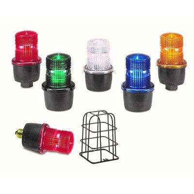 Federal Signal LP3P-120R Federal Signal LP3P-120R StreamLine® Low Profile Strobe Light; 120 Volt AC, 0.10 Amp, Red, 1/2 Inch NPT Pipe Mount