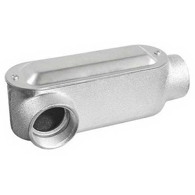 Garvin MLR125 Garvin MLR125 Type LR Conduit Body; 1-1/4 Inch Hub, Malleable Iron, Zinc Electroplated