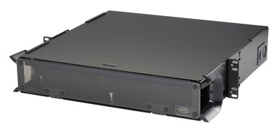 Hubbell Premise Wiring FCR2U6SPNA Hubbell Wiring FCR2U6SPNA OptiChannel Fiber Enclosure With Locking; 17 Inch Width x 17 Inch Depth x 3.500 Inch Height, 16 Gauge Cold Rolled Steel, Powder Coated, Durable Black