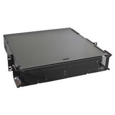 Hubbell Premise Wiring FCR2U6SP Hubbell Premise FCR2U6SP OptiChannel™ Fiber Optic Enclosure; Rack Mount, 2-Rack Unit, Black