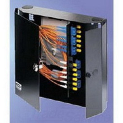Hubbell Premise Wiring FCW4SP Hubbell Premise FCW4SP OptiChannel™ Double Door Cabinet; Wall Mount, Black