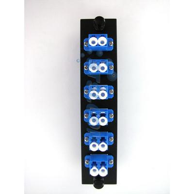 Hubbell Premise Wiring FSPLCDS6 Hubbell Premise FSPLCDS6 OptiChannel™ Standard LC Pre-Loaded FSP Adapter Panel; Snap-In Mount, Singlemode/Multimode, 125 um, 6 Duplex Fibers, Blue