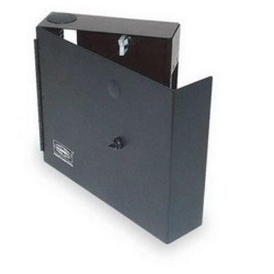 Hubbell Premise Wiring FTU2SP Hubbell Premise FTU2SP OptiChannel™ Single-Door Ftu Series Cabinet; Wall Mount, Black