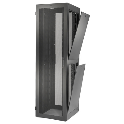 Hubbell Premise Wiring H2S8042 Hubbell Wiring H2S8042 Server Cabinet; 43U Rack, 24 Inch Width x 80 Inch Height x 42 Inch Depth, Steel, Black