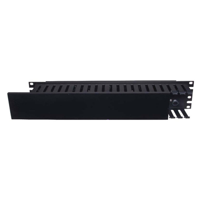 Hubbell Premise Wiring HC119CE3P Hubbell Wiring HC119CE3P Duct Organizer; 19 Inch Length x 8.120 Inch Width x 1.750 Inch Height, Extruded PVC Duct and Cover, 16 Gauge Cold Rolled Steel Panel, Black