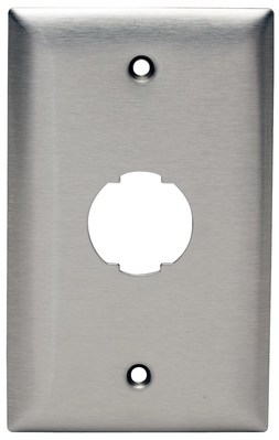 Hubbell Premise Wiring HISF11 Hubbell Wiring HISF11 Hi-Impact™ 1-Gang Faceplate; 1-Port, Screw Mount, Stainless Steel